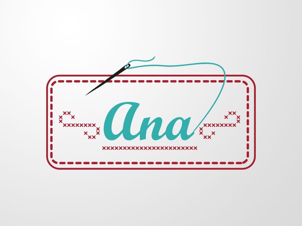 logo broderii ana by visualx